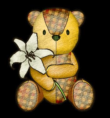 パッチワークベアユリの花 無料イラスト素材素材ラボ