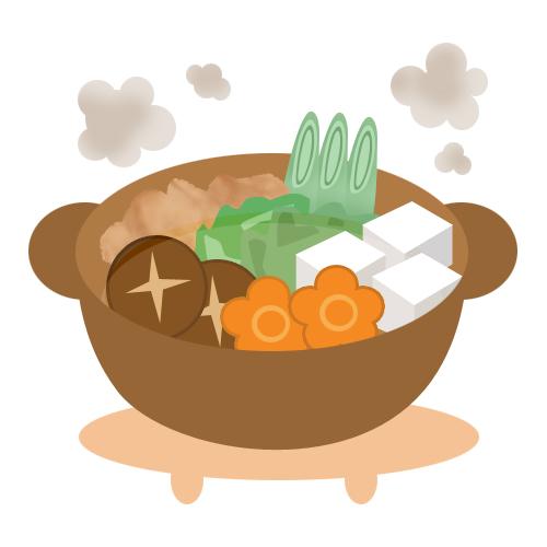 冬にピッタリのお鍋 無料イラスト素材素材ラボ