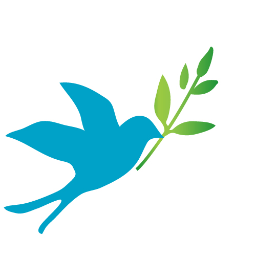 青い鳥と葉っぱのイラスト 無料イラスト素材素材ラボ