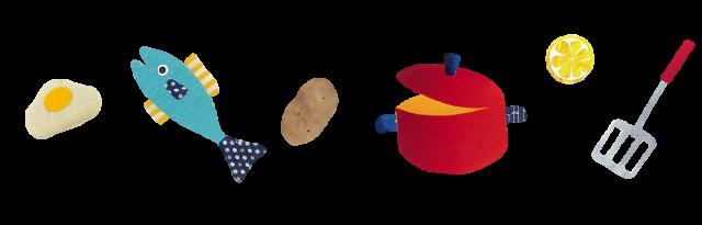 お料理ライン1 | 無料イラスト素材|素材ラボ