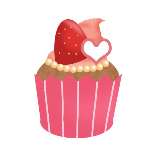 可愛いカップケーキ 無料イラスト素材素材ラボ