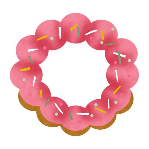 ピンクが可愛いドーナツ 無料イラスト素材素材ラボ