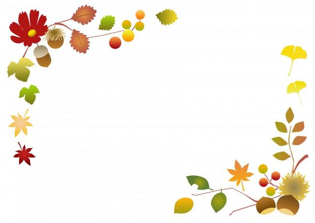 秋の植物フレーム 無料イラスト素材素材ラボ