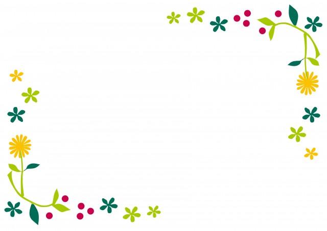 野の花のフレーム 無料イラスト素材素材ラボ