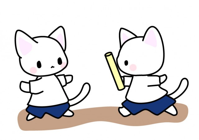 バトンリレー猫イ…