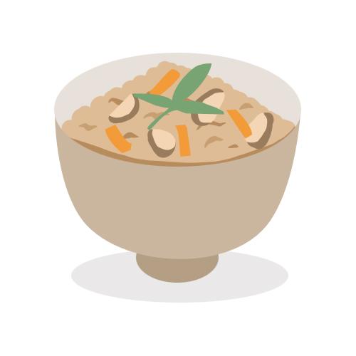 炊き込みご飯 無料イラスト素材素材ラボ