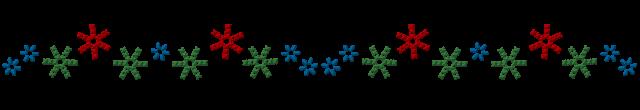 刺繍したような雪の結晶ライン | 無料イラスト素材|素材ラボ