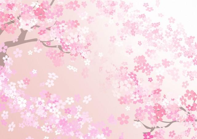 見上げた桜の風景 無料イラスト素材 素材ラボ