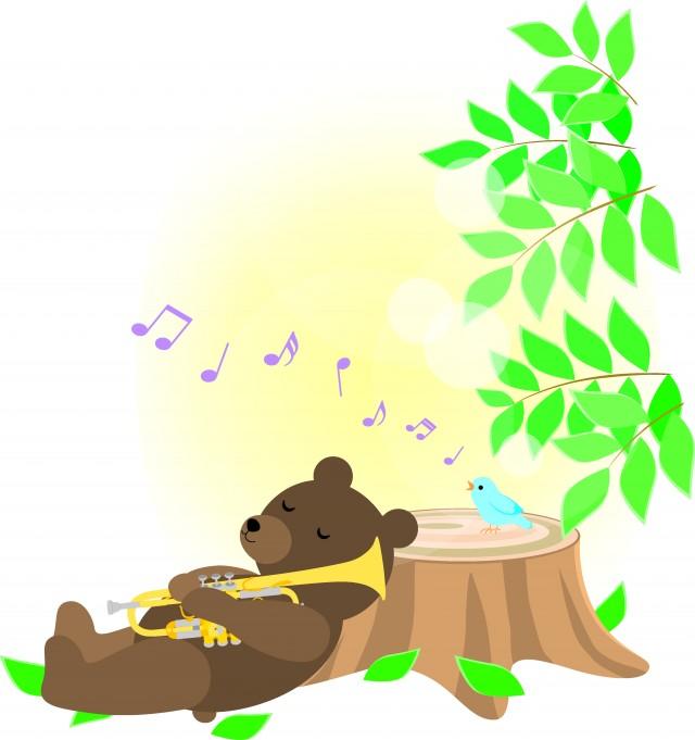 森の動物たちの音…