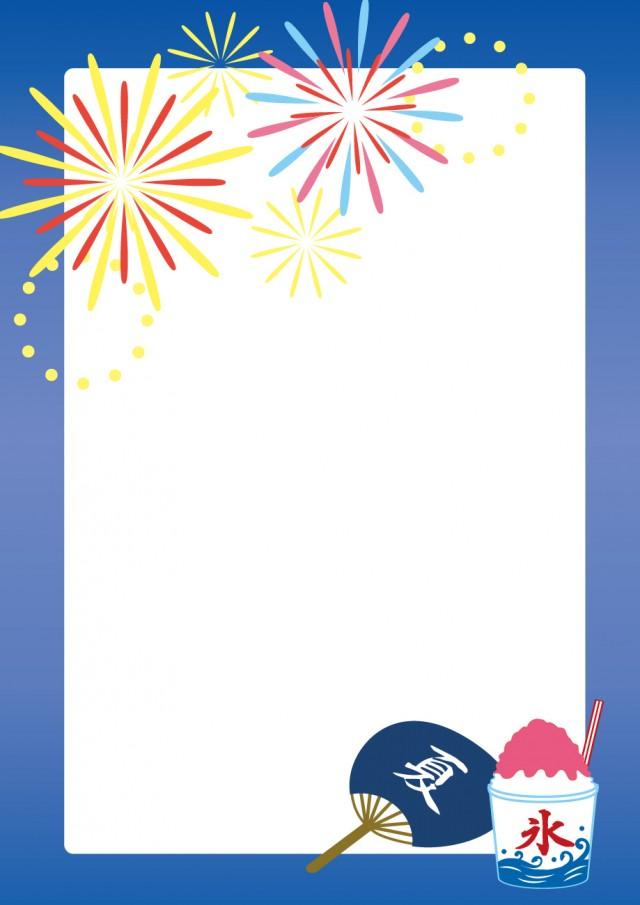 夏祭りのフレーム 無料イラスト素材素材ラボ