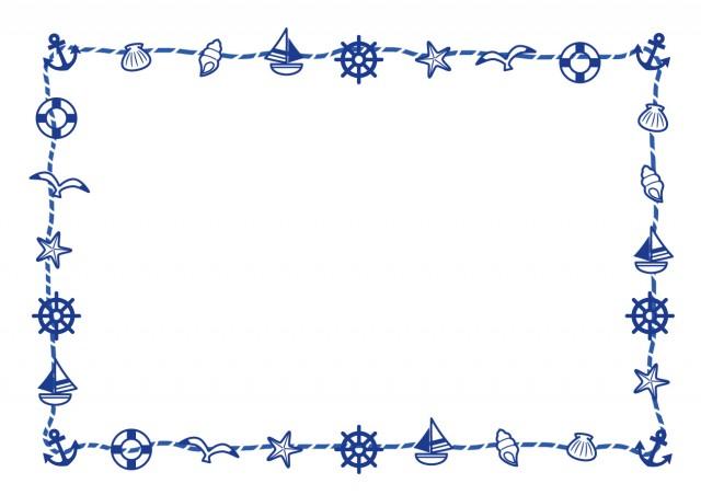マリンフレーム1 無料イラスト素材素材ラボ