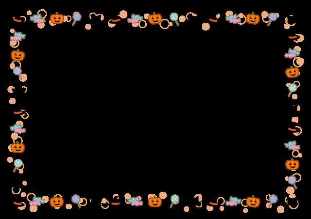 かわいいハロウィンフレーム タテ・ヨコ 無料イラスト素材|素材ラボ