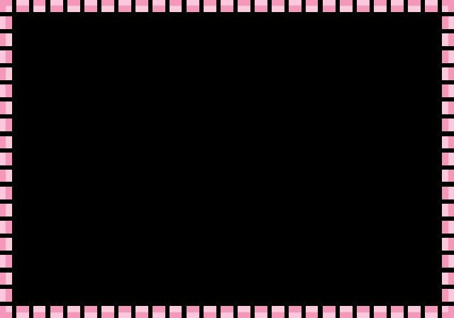 シンプルなスクエアのフレームピンク 無料イラスト素材素材ラボ
