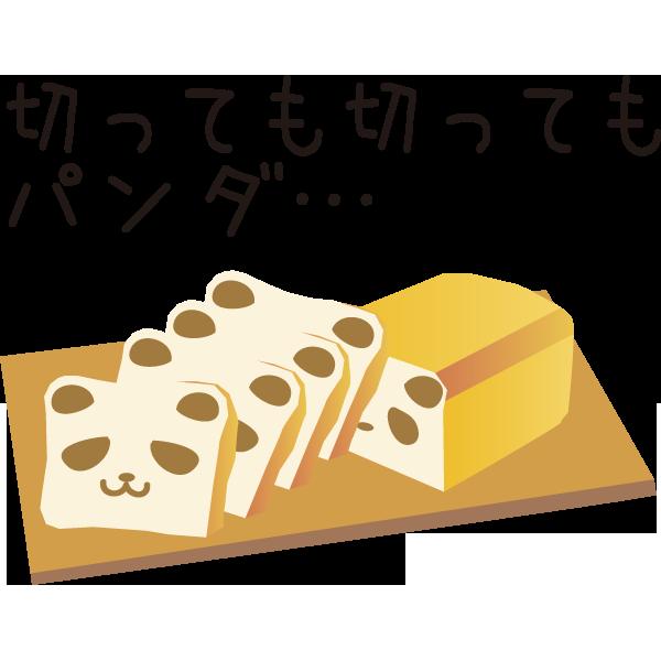 どこを切ってもパンダのかわいすぎるどこでもぱんだパンが人気