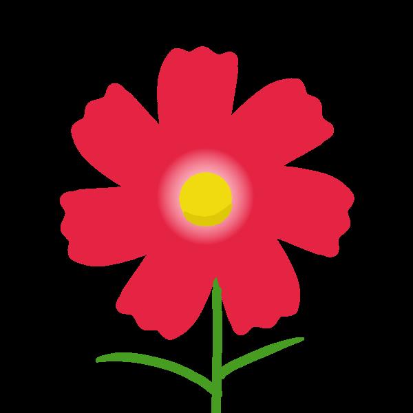 赤色のコスモスのイラスト 無料イラスト素材素材ラボ