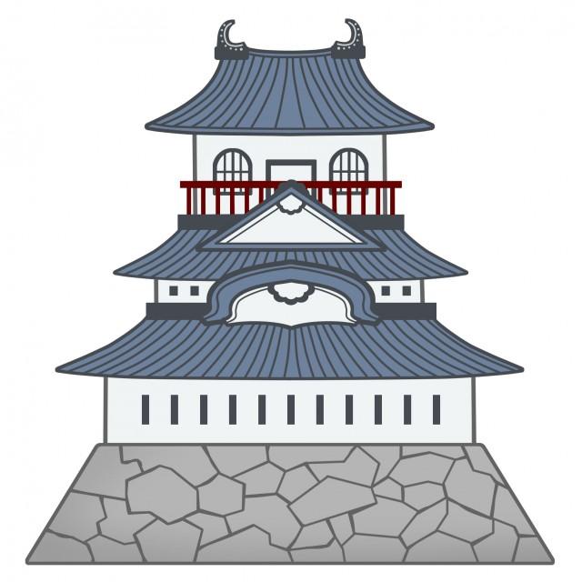 建物のイラスト日本のお城 無料イラスト素材素材ラボ