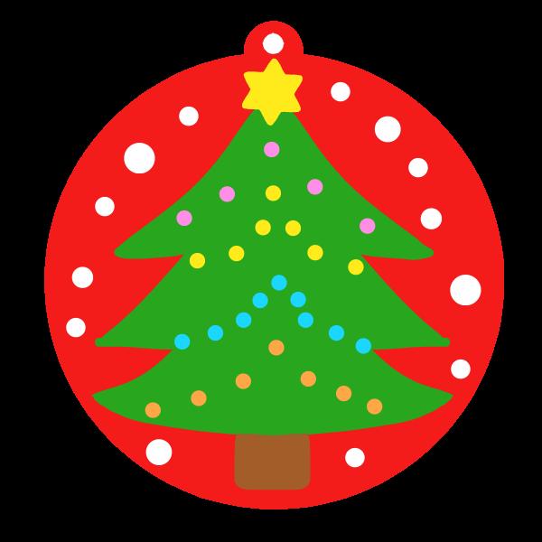 クリスマスツリーオーナメントのイラスト 無料イラスト素材素材ラボ