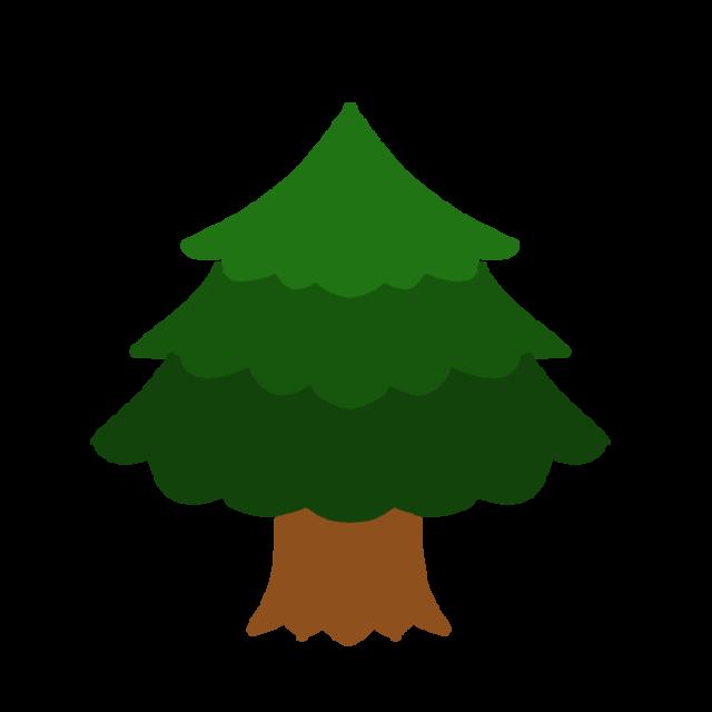 モミの木のイラスト 無料イラスト素材素材ラボ