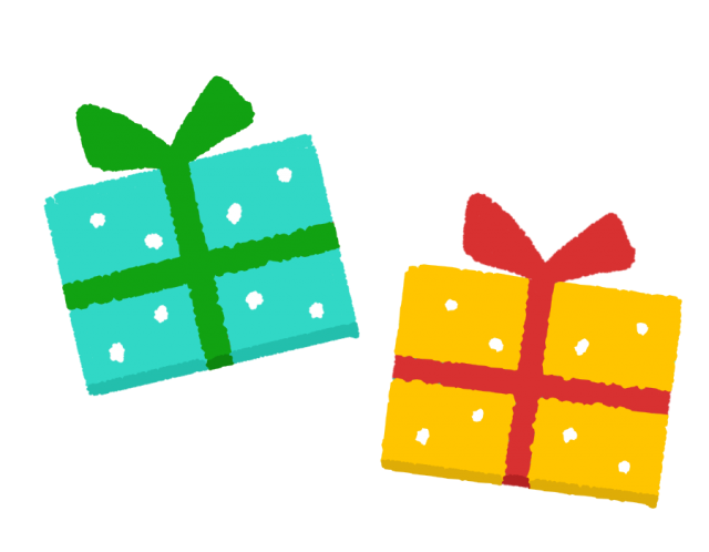 プレゼント2個のイラスト 無料イラスト素材素材ラボ