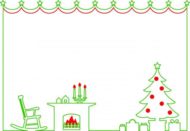 クリスマスイラストフレーム無料 Saruwakakun