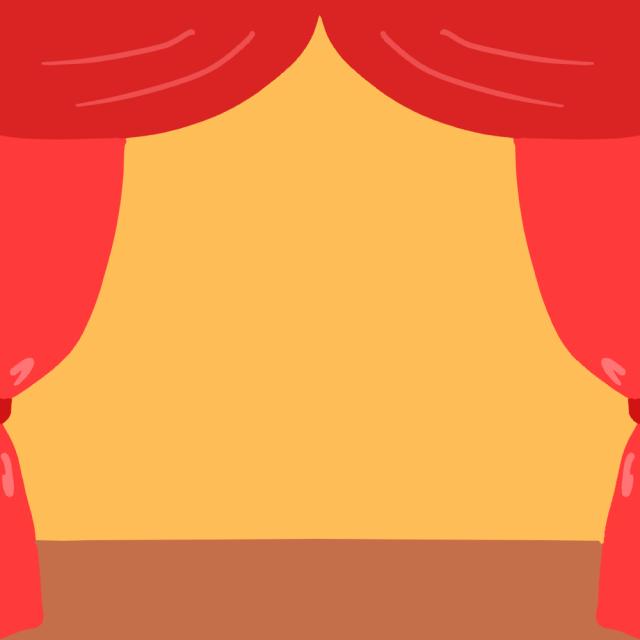 幕と舞台フレームのイラスト 無料イラスト素材素材ラボ
