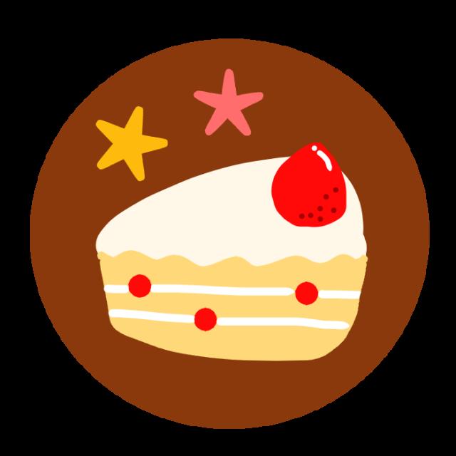 イチゴのショートケーキのワンポイントイラスト 無料イラスト素材