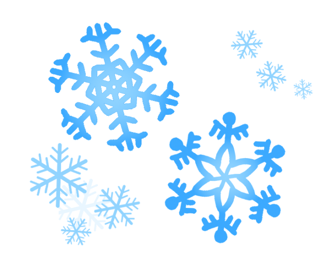 大きい雪の結晶と小さい雪の結晶のイラスト 無料イラスト素材素材ラボ