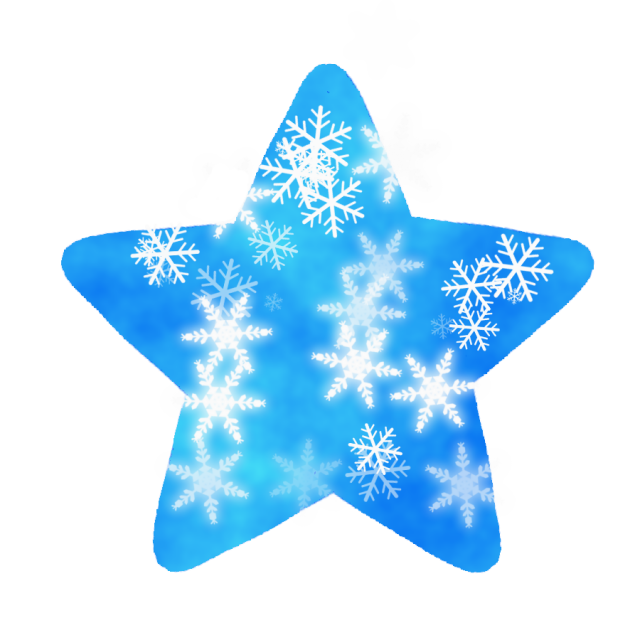 雪の結晶付きの星のイラスト 無料イラスト素材 素材ラボ