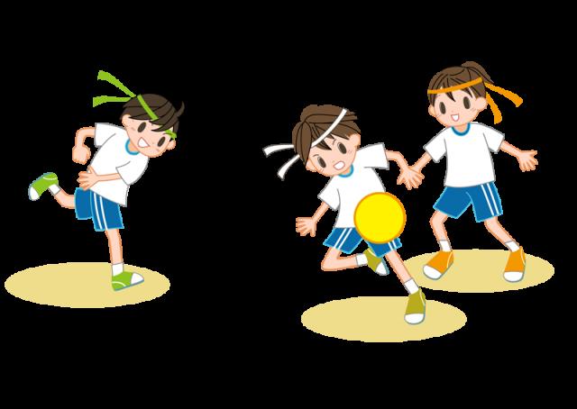 ドッヂボールをする子ども達 | 無料イラスト素材|素材ラボ