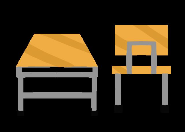 学校の机と椅子のイラスト 無料イラスト素材素材ラボ