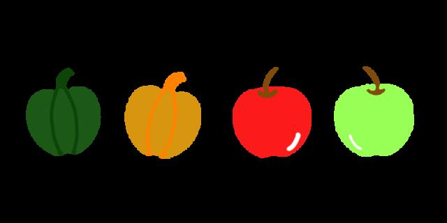 野菜と果物のラインのイラスト 無料イラスト素材素材ラボ