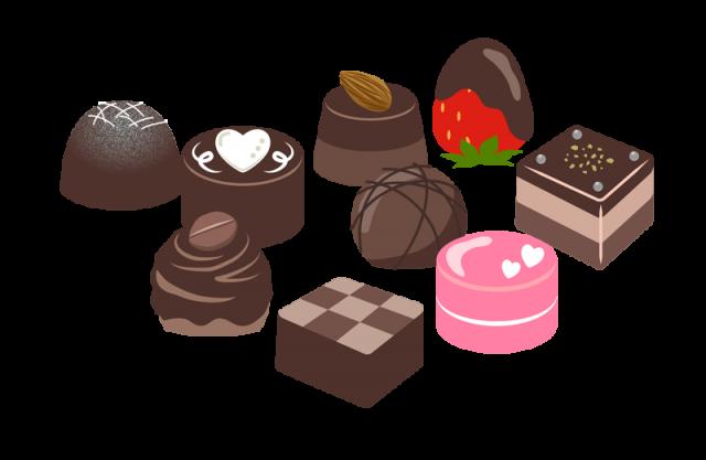 かわいいチョコレート 無料イラスト素材 素材ラボ