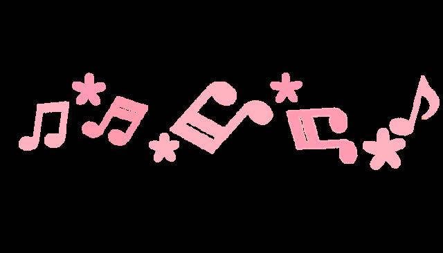 音符の花ラインのイラスト 無料イラスト素材素材ラボ