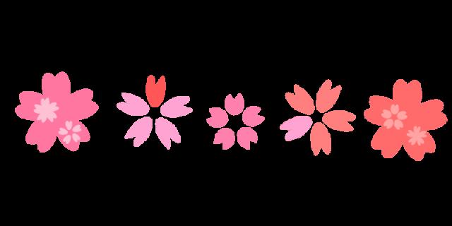 桜の花ラインのイラスト 無料イラスト素材素材ラボ