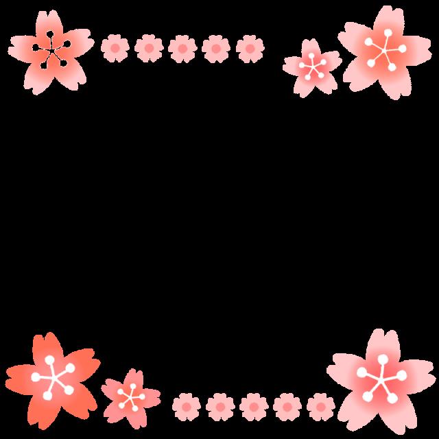 桜のライン・背景…