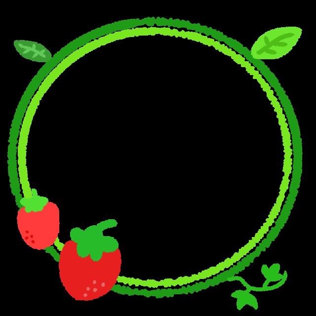 イチゴのリングフレームのイラスト 無料イラスト素材 素材ラボ