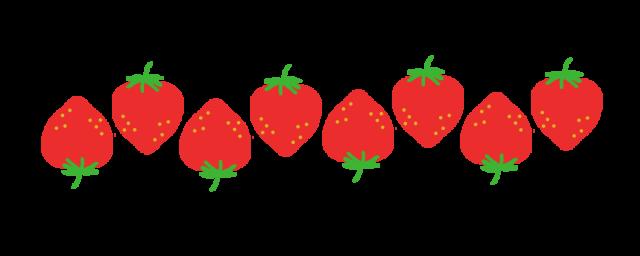 イチゴのラインのイラスト 無料イラスト素材素材ラボ