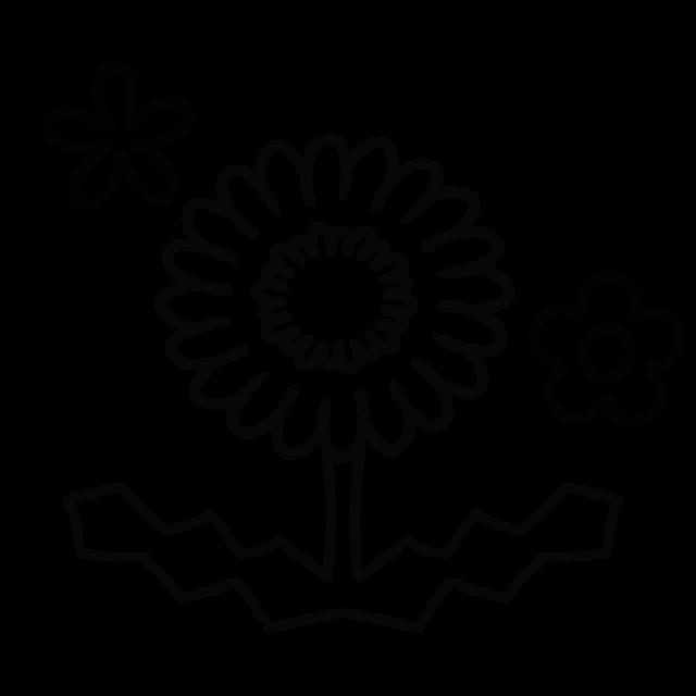 タンポポのぬりえのイラスト 無料イラスト素材素材ラボ