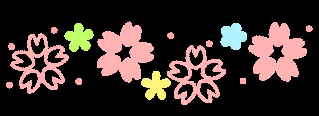 桜のラインのイラスト