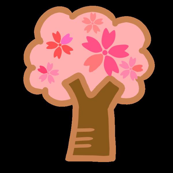 桜の木 かわいい無料イラスト使える無料雛形テンプレート最新順