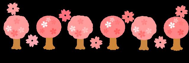 桜のライン背景イラスト特集 卒業式入学式などにどうぞ イラスト系