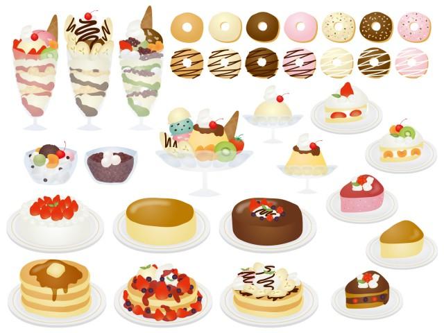 お菓子イラストのセット02 無料イラスト素材素材ラボ