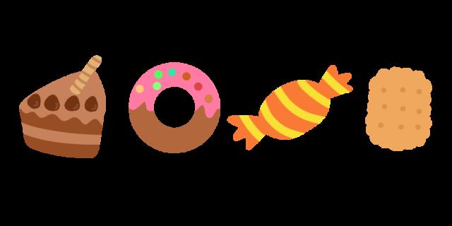お菓子のラインイラスト 無料イラスト素材素材ラボ