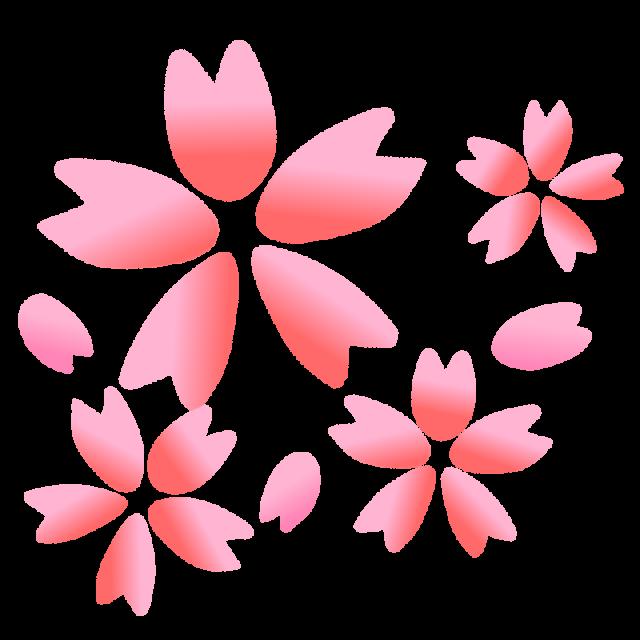さくらと花びらのイラスト 無料イラスト素材素材ラボ