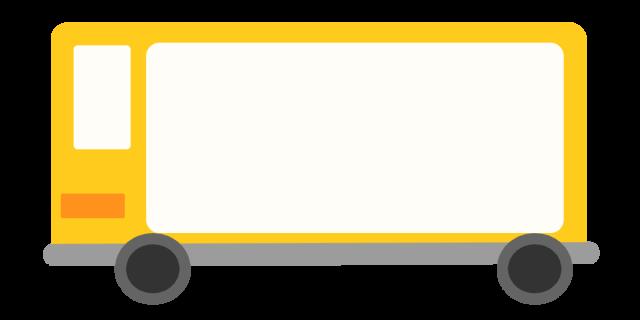 黄色いバスフレームのイラスト 無料イラスト素材素材ラボ