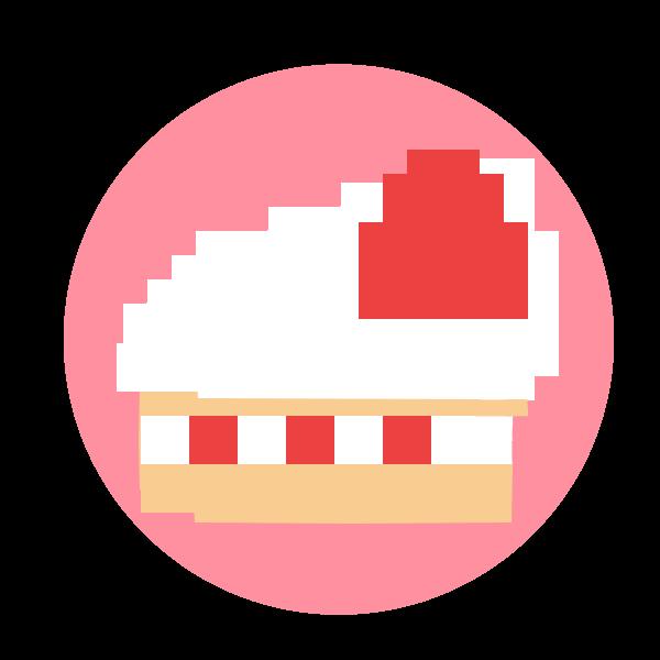 イチゴのケーキアイコンのイラスト 無料イラスト素材素材ラボ