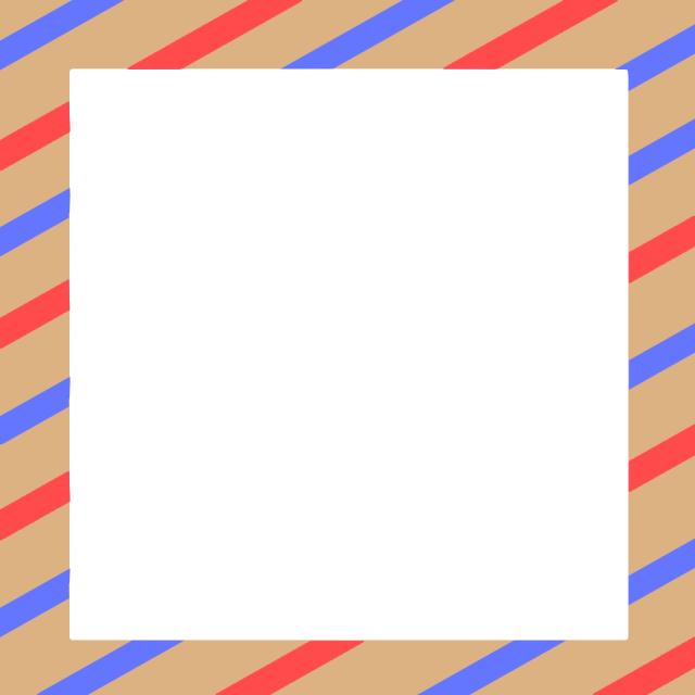 エアメールの手紙風フレームのイラスト 無料イラスト素材素材ラボ