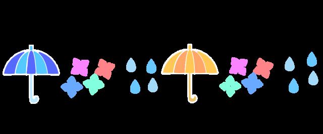 梅雨のアイテムラインのイラスト 無料イラスト素材素材ラボ