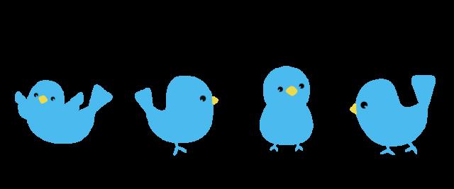 幸福の青い鳥ラインのイラスト 無料イラスト素材素材ラボ