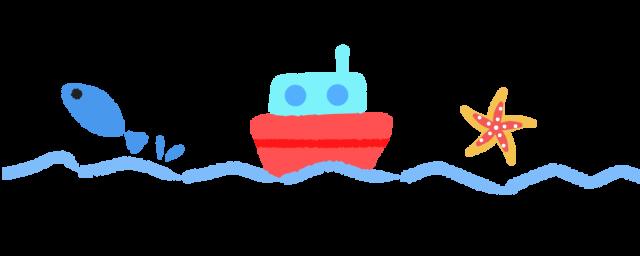 海と船ラインのイラスト 無料イラスト素材素材ラボ